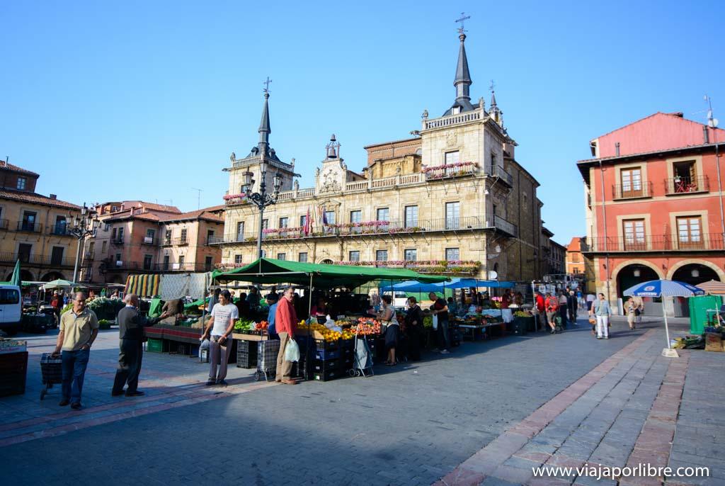 Plaza Mayor. Que ver en León ciudad