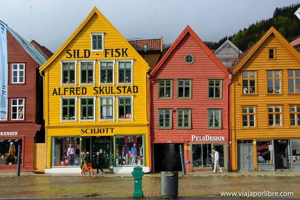 Muelle de Bryggen. Qué ver en Bergen.