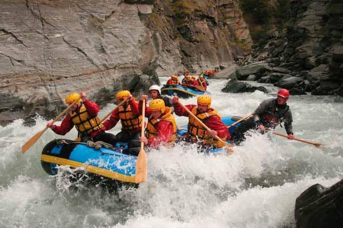 Rafting en el Shotover