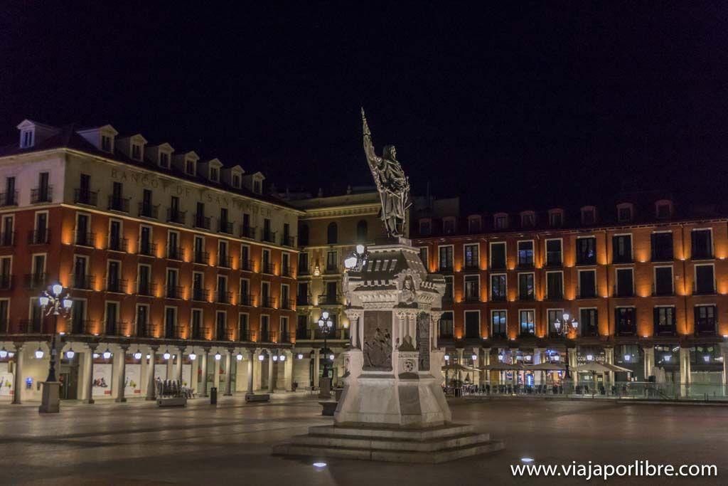 Valladolid - Plaza Mayor de noche