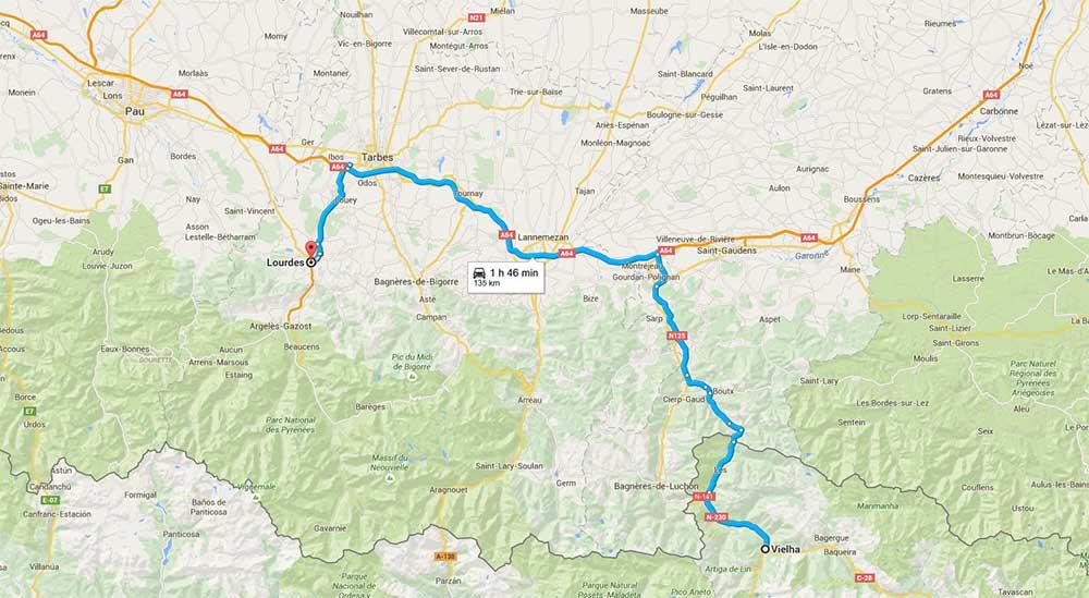 De Vielha a Lourdes
