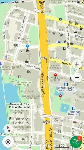 maps.me - Viajar a Nueva York