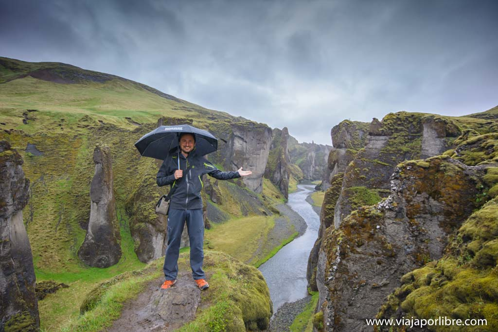 El increíble cañón de Fjaðrárgljúfur