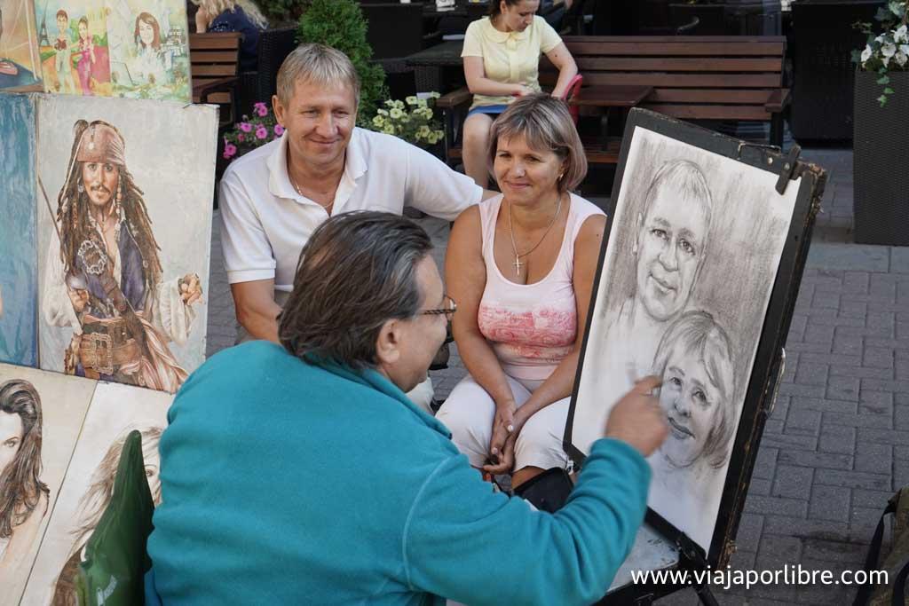 Pintores en la calle Argat