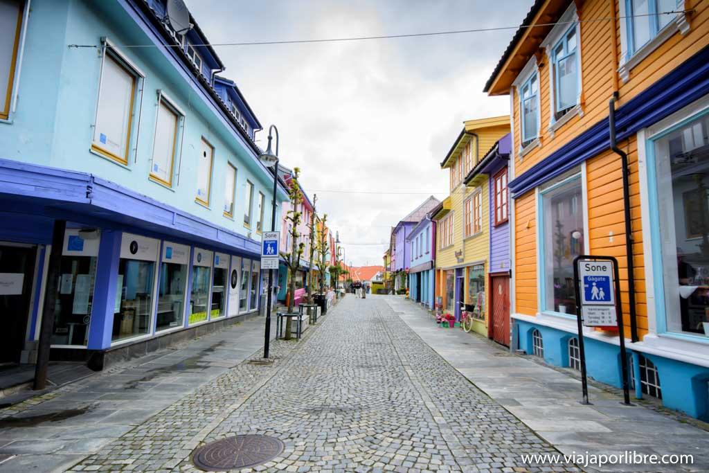 La calle Øvre Homelgate y alrededores