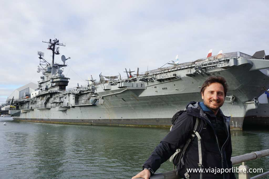 Javier en el Intrepid