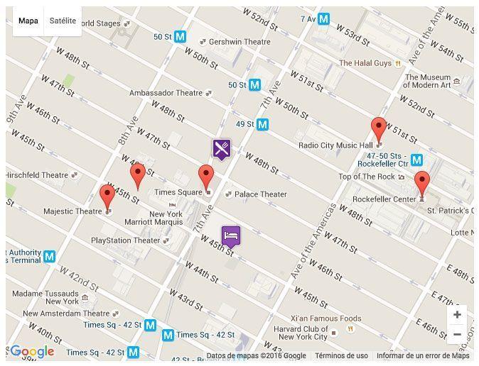 Mapa de Broadway