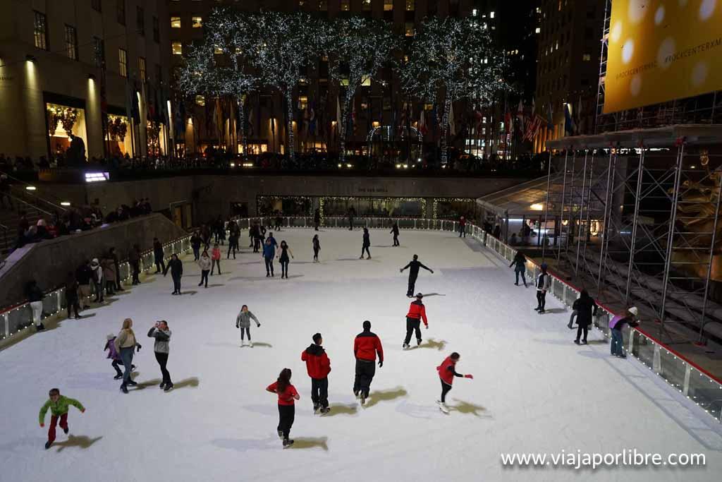 Pista de patinaje en Nueva York