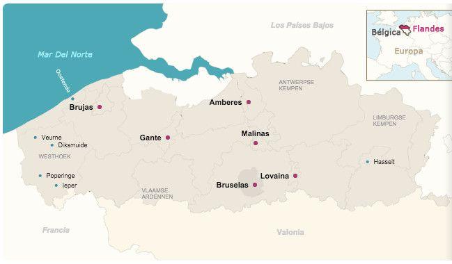 Mapa de Flandes