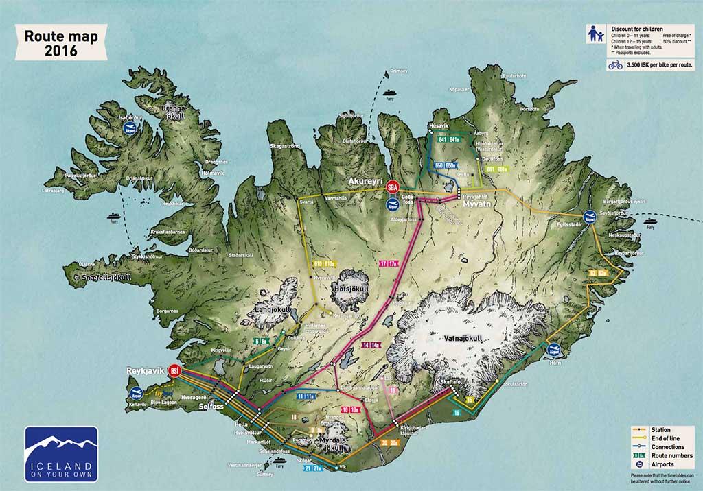 Islandia en autobús