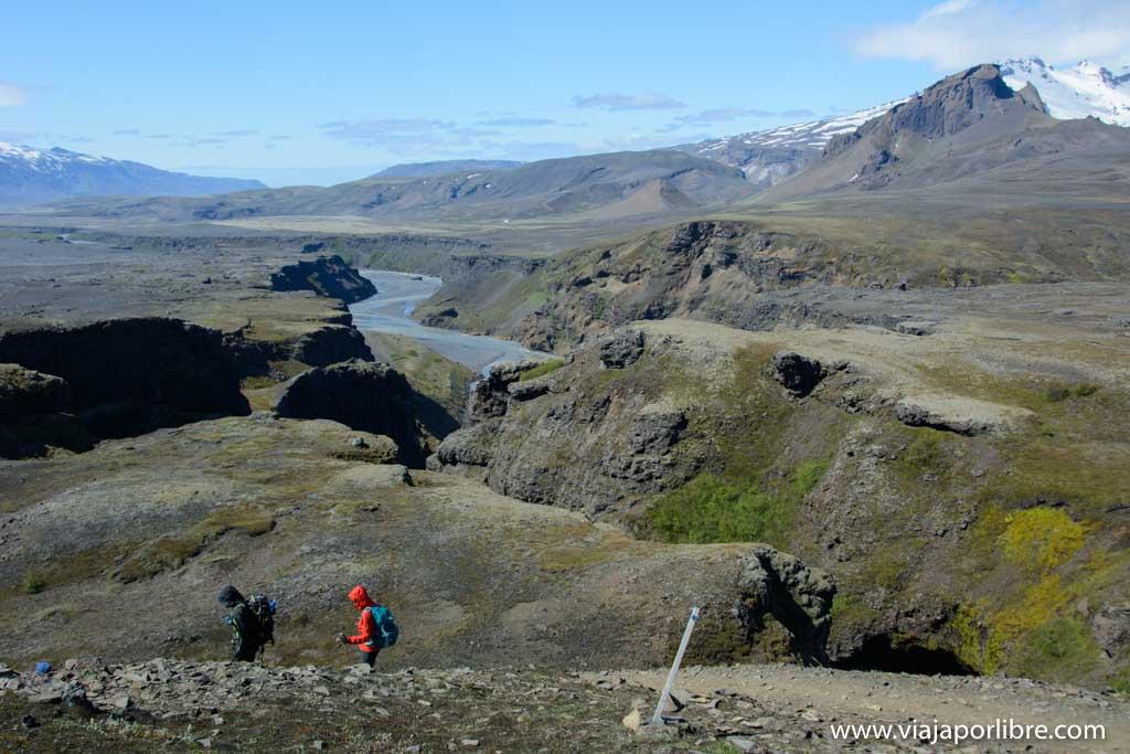 Laugavegurinn etapa 4, Emstrur (Botnar) - Þórsmörk