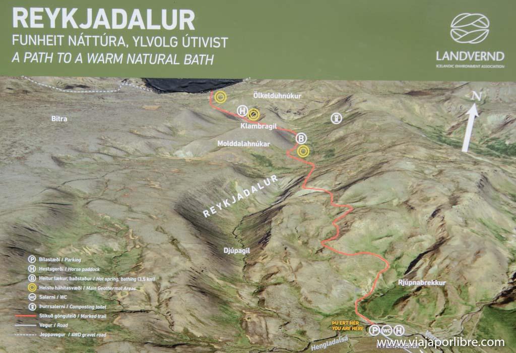 Mapa de Reykjadalur