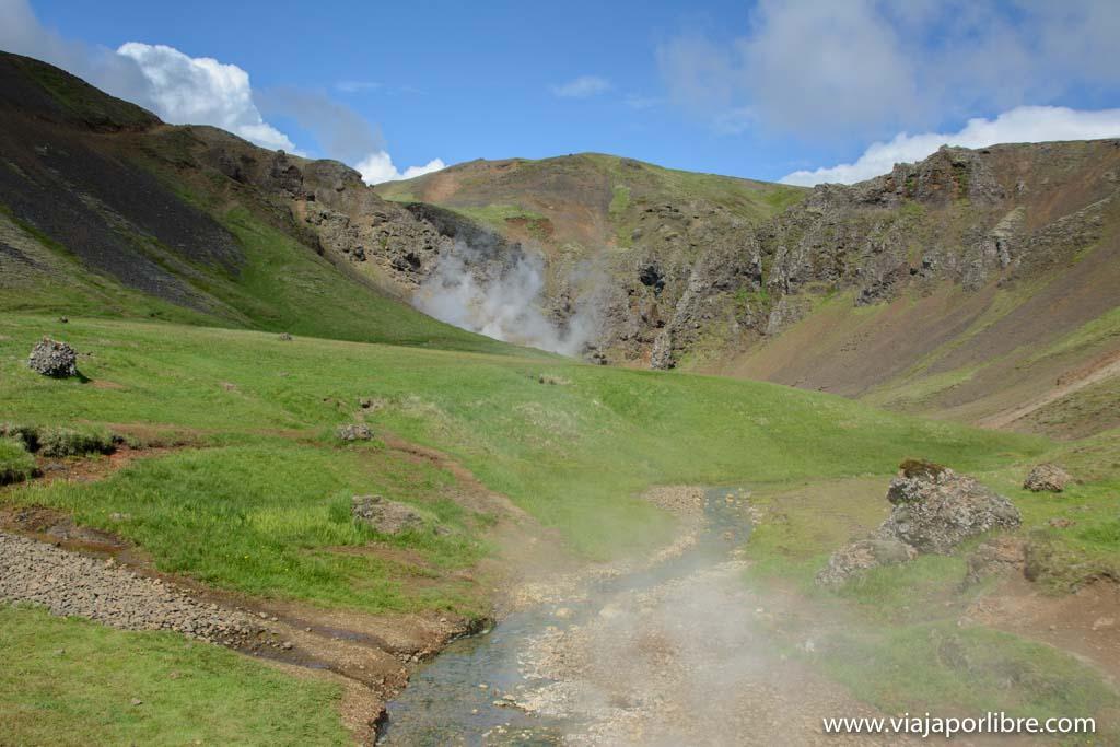 Reykjadalur. Donde disfrutar gratis de aguas termales en Islandia