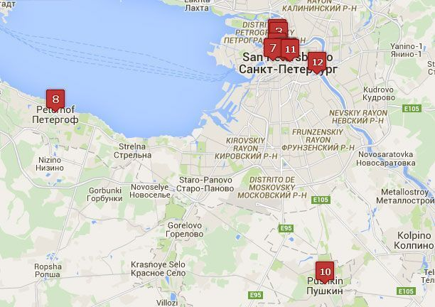 Mapa de San Petersburgo