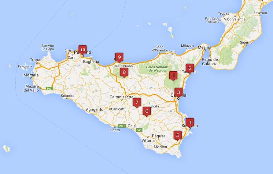 Nuestra ruta por Sicilia
