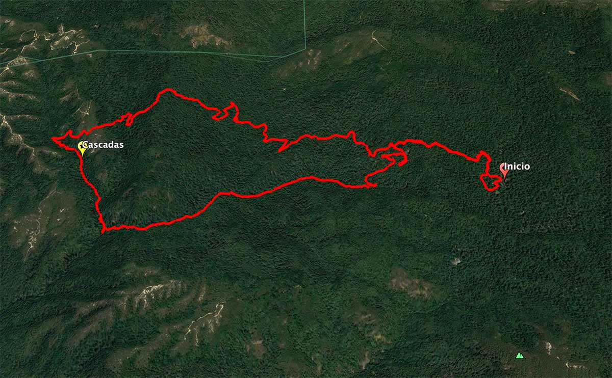 Mapa Big Basin