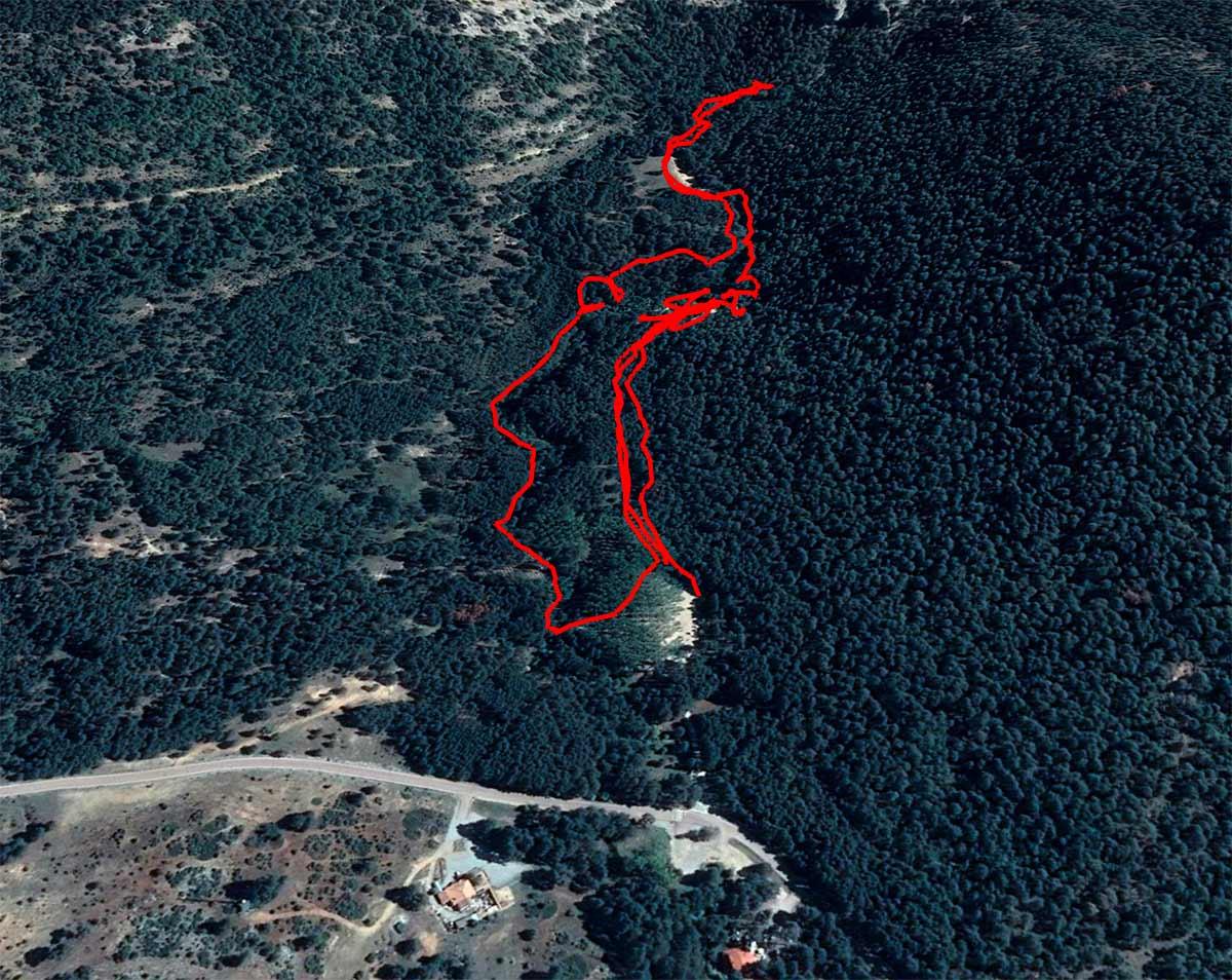 Mapa ruta río Cuervo