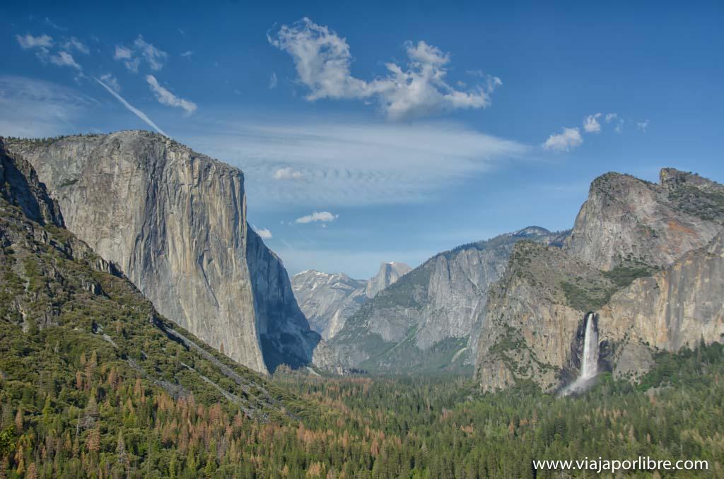 Que ver en el Yosemite National Park - Tunnel View