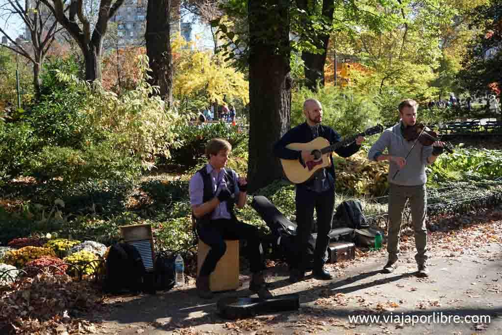 Tocando en Central Park