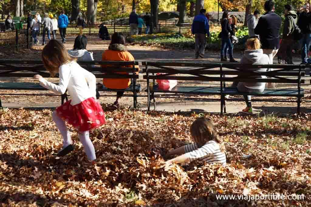 Jugando en Central Park