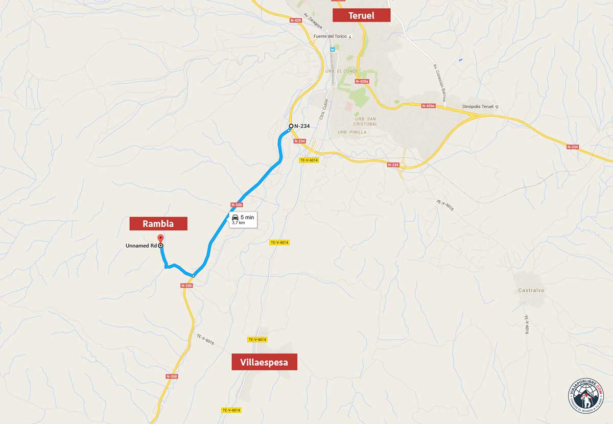 Mapa a la Rambla de Barrachina