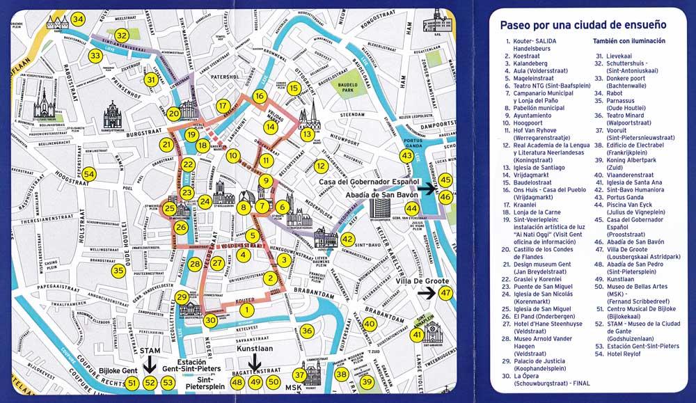Mapa de Gante