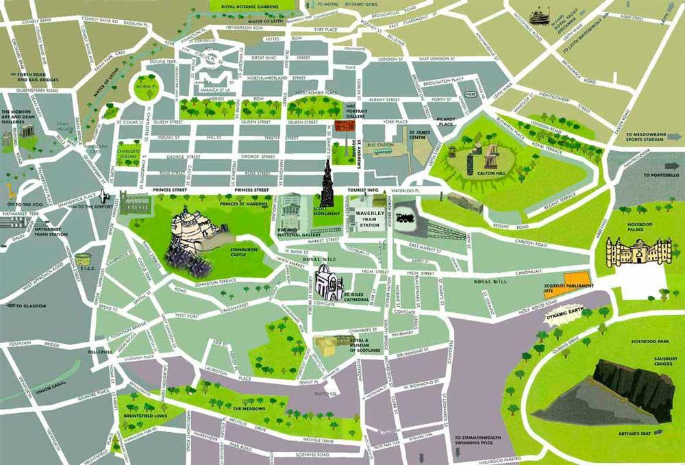 Mapa de Edimburgo