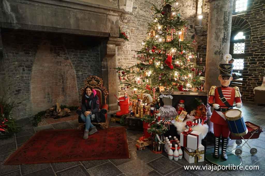 El castillo en Navidad