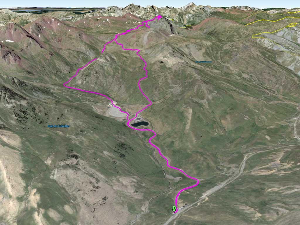 Mapa hacia el Anayet (descargar mapa de la derecha)