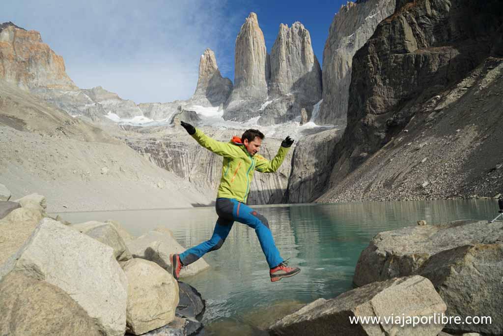 Con la Sony A7 en Torres del Paine