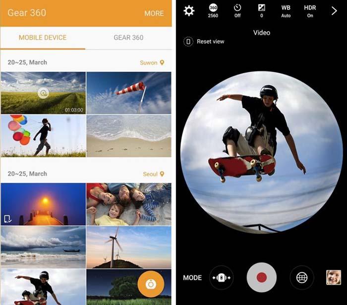 App de Samsung Gear 360