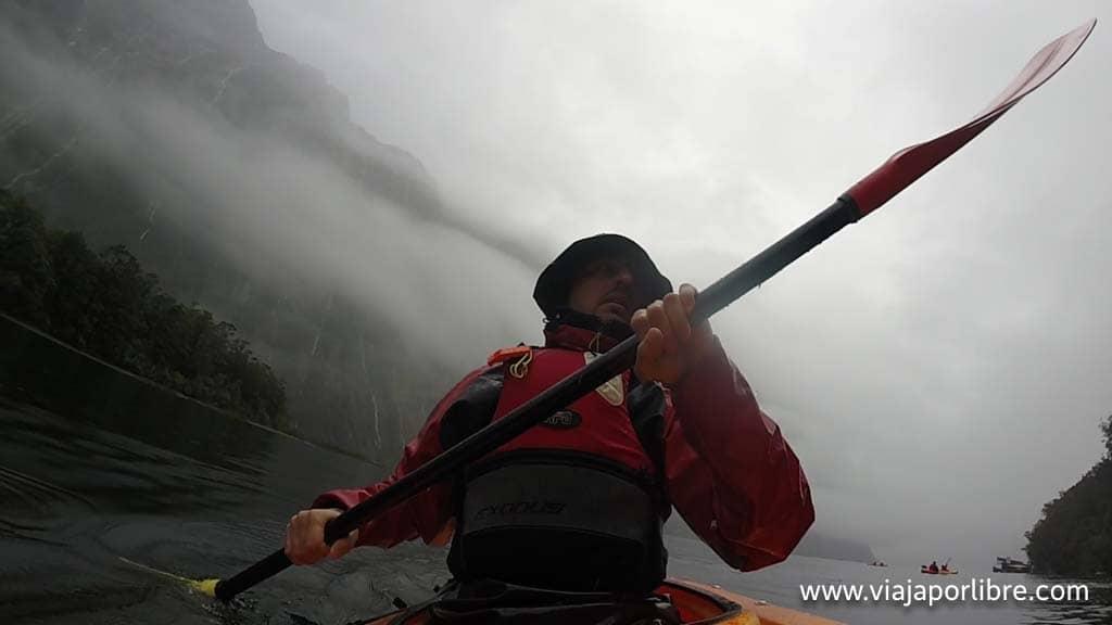 Kayak en Milford Sound