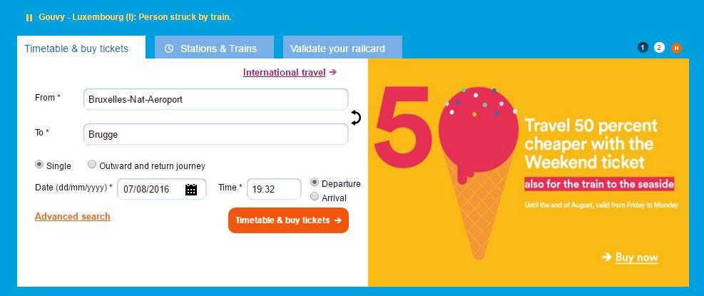 Comprando un billete de tren