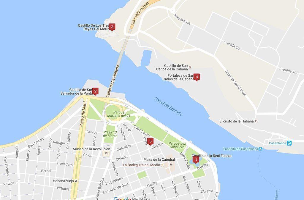Castillos y fortalezas en la Habana que no debes perderte
