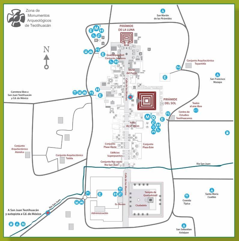 Mapa de Teotihuacan
