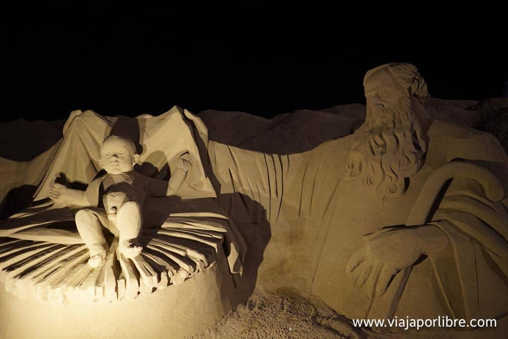 Belén de arena en Las Palmas