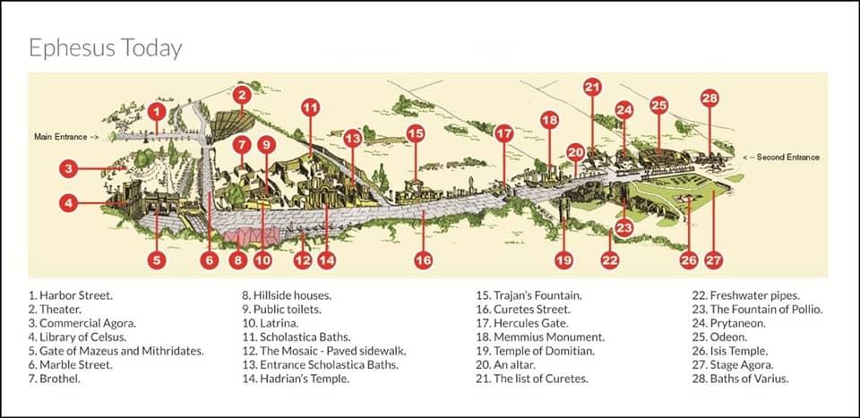 Mapa de Efeso