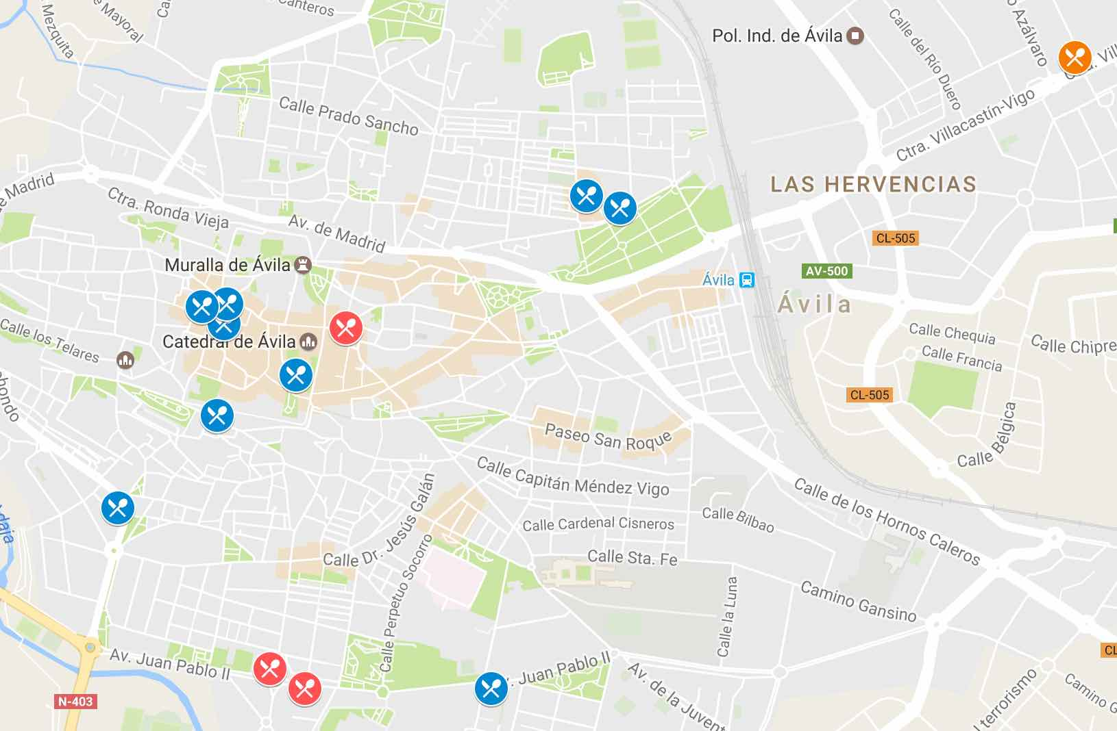Tapas en Ávila