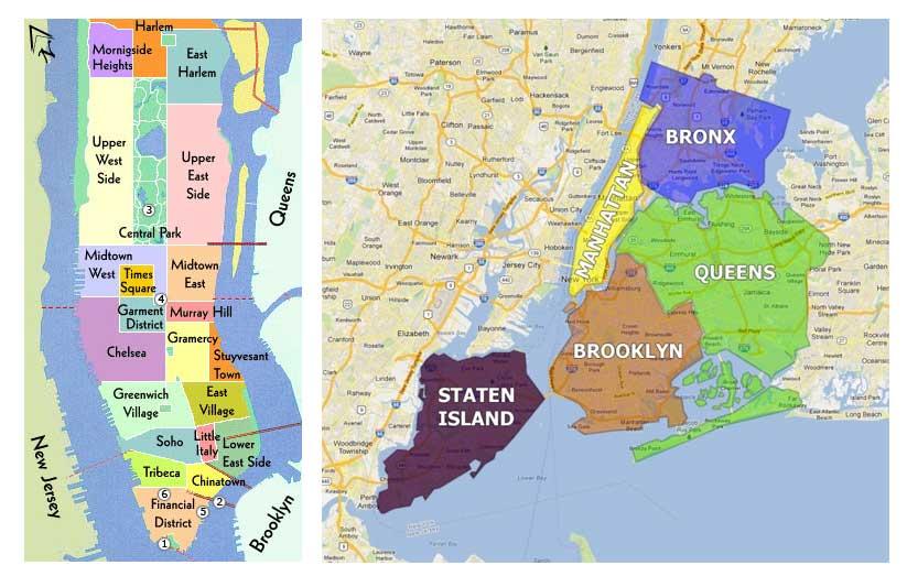 Barrios y zonas de Nueva York