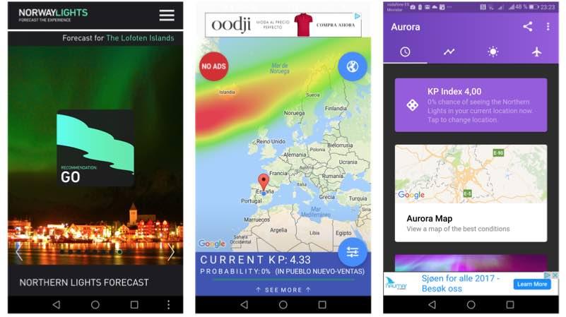 Apps auroras boreales