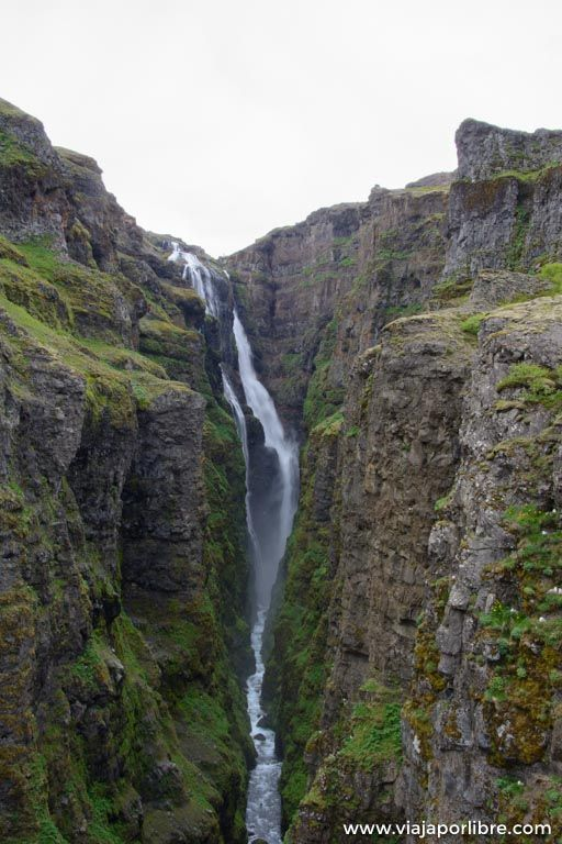 Glymur, la que fue la cascada mas alta de Islandia