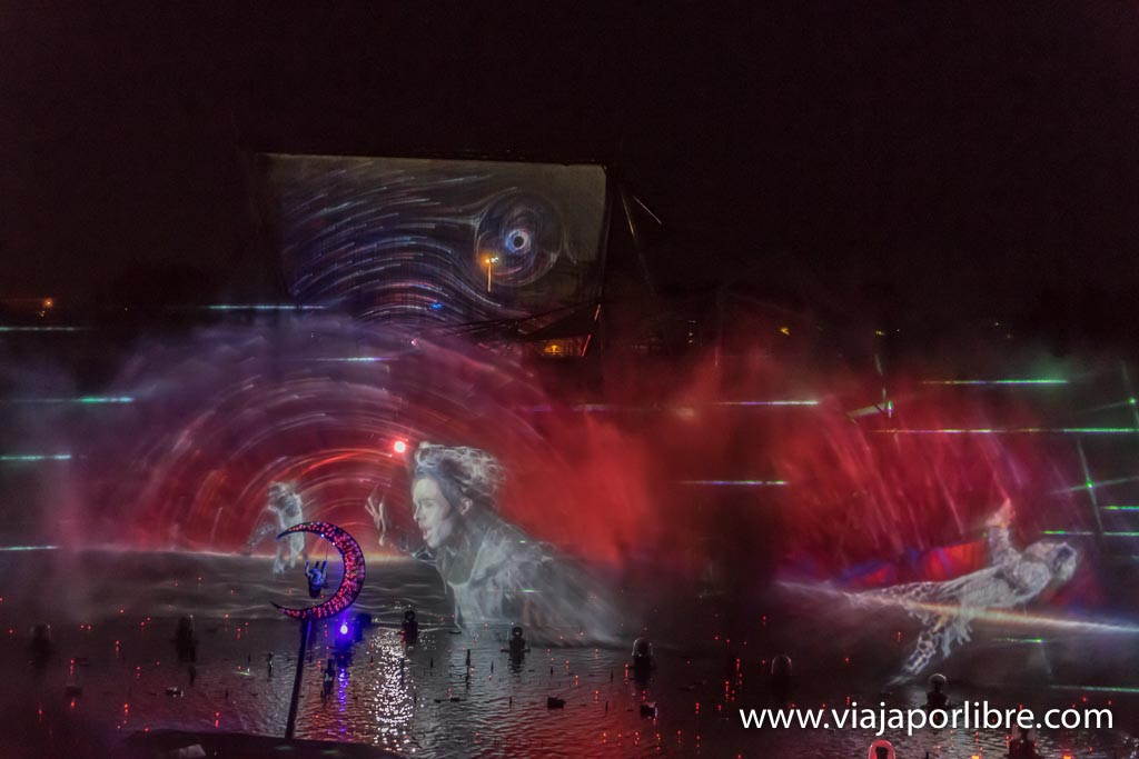 Espectáculo nocturno de Futuroscope