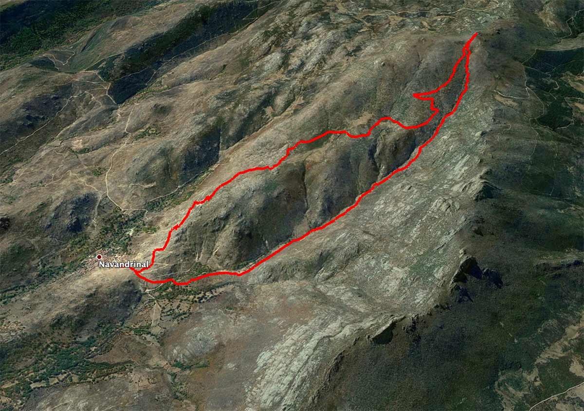 Mapa Alto de la Hoya