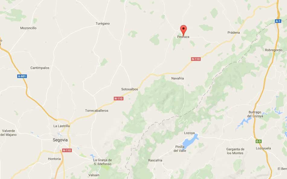 Mapa de la situación de Pedraza