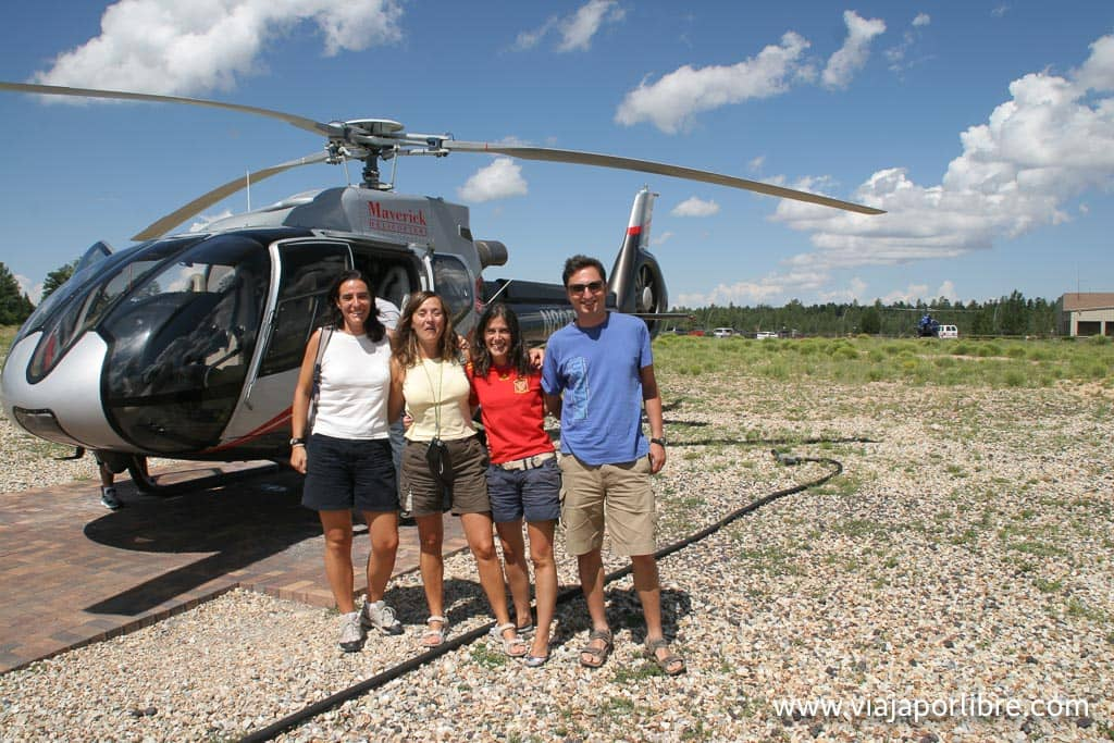 Gran Cañón en helicóptero