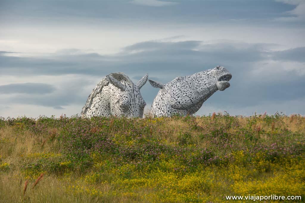 The Kelpies en Escocia