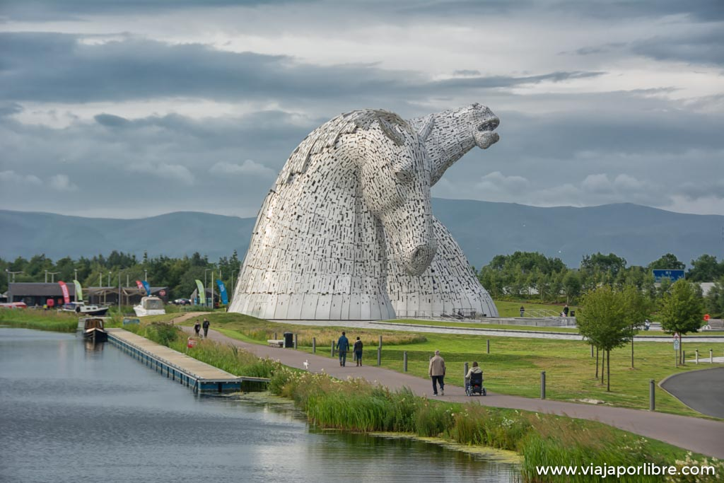 The Kelpies en Escocia