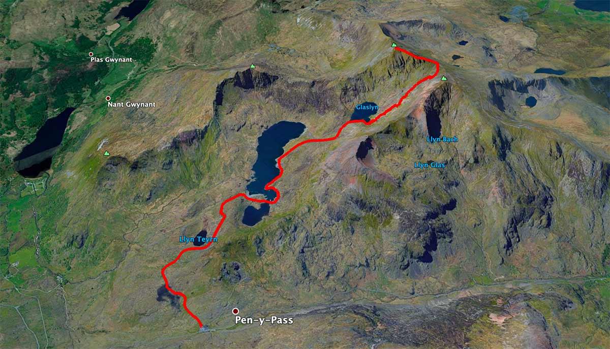 Mapa Snowdon