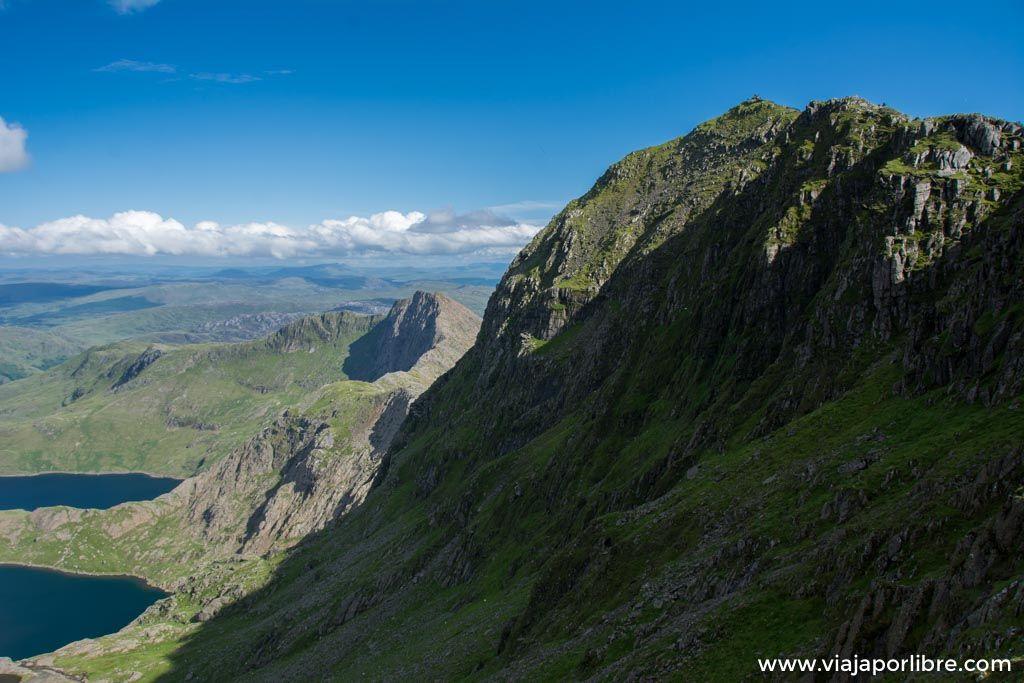 Ruta al Snowdon (Snowdonia), el pico mas alto de Gales