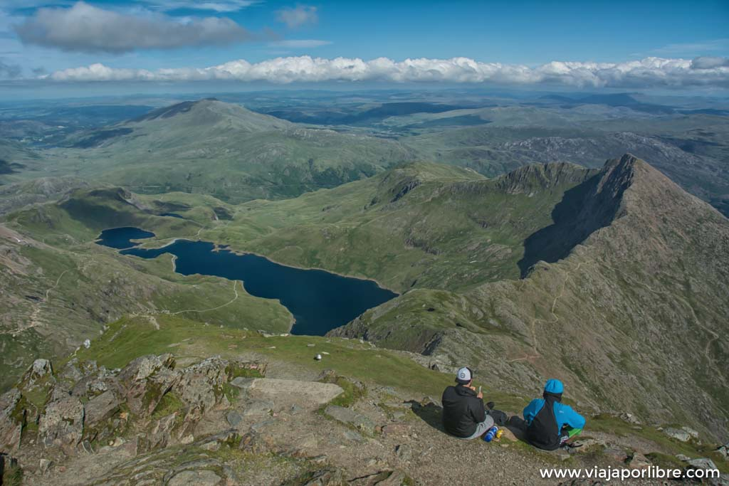 Ruta al Snowdon, el pico mas alto de Gales
